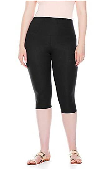 Amazon.com: Yummie Tummie Compact Capri Legging Yoga ~ Black ...