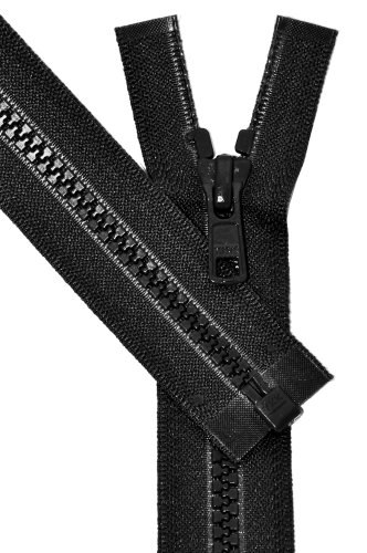 ZipperStop Wholesale Authorized Distributor YKK Vislon Sport Zipper, YKK #5 Molded Plastic Separating Bottom 14