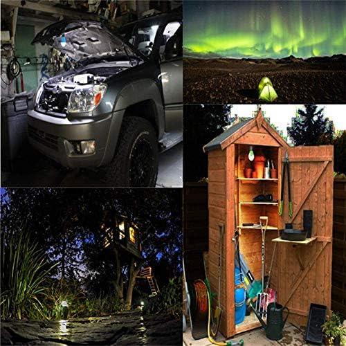 GJNVBDZSF Tienda al Aire Libre, luz para Acampar Impermeable Carpa portátil Bombilla Batería de Emergencia LED Linterna de Camping para Senderismo Pesca