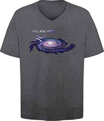 bsw-mens-you-are-here-milky-way-galaxy-science-v-neck-xl-dark-heather