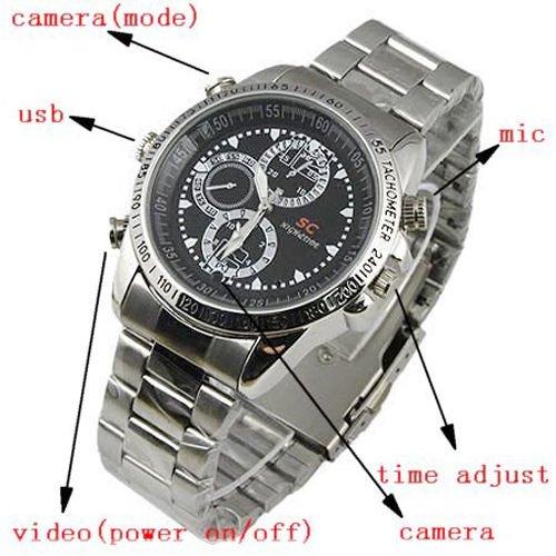 Hd Waterproof Spy Watch Camera Camcorder 8Gb - 9
