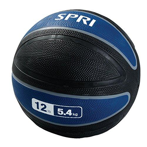 SPRI Xerball Medicine Ball, Blue, 12-Pound
