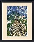 Framed Print of Jin Mao Tower Skyscraper Close Up Patterns and Designs Liujiashui Financial