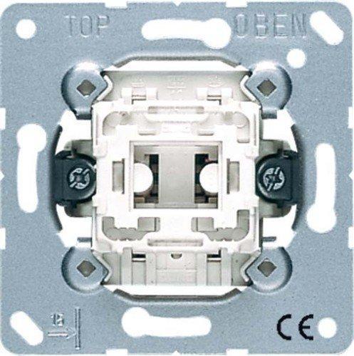 Blanco interruptor el/éctrico 10 A, Met/álico, Blanco JUNG 531 U Pushbutton switch 1P Met/álico Accesorio cuchillo el/éctrico