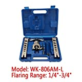 uxcell® 45 Degree Eccentric Cone Type Tube Flaring Tools Set WK-806AM-L
