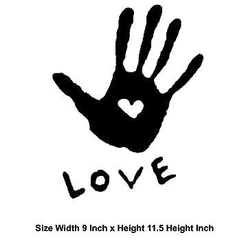 Love Heart Hand, Leicht Anzubringen, Vinyl, Witzig Und Cool Für Die  Renovierung Und