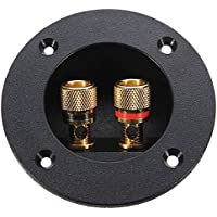 PIXNOR DIY Home Car Stereo Way Speaker Box Terminal Binding Post Round Spring Cup Connector Subwoofer Plug Black