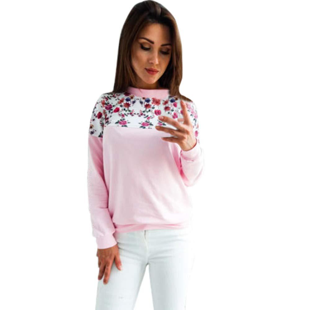 Clearance! Women's Leopard Print Patchwork Tee Tops Long Sleeve T Shirts CieKen