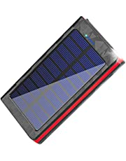 Solar Charger Power Bank 20000mAh High Efficiency Battery Backup with Dual USB & Type C Port for Backpacking Camping Hiking Tavel Outdoor Activities (Red)