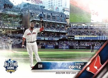 2016 Topps Update Us254 David Ortiz Baseball Card Bids Farewell At Final Mlb All Star Game