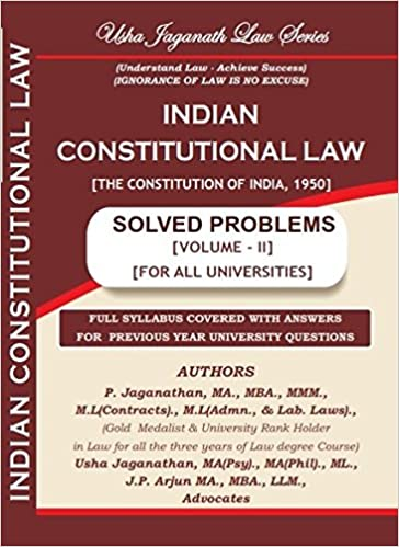 Buy Indian Constitutional Law Solved Problems Volume - II