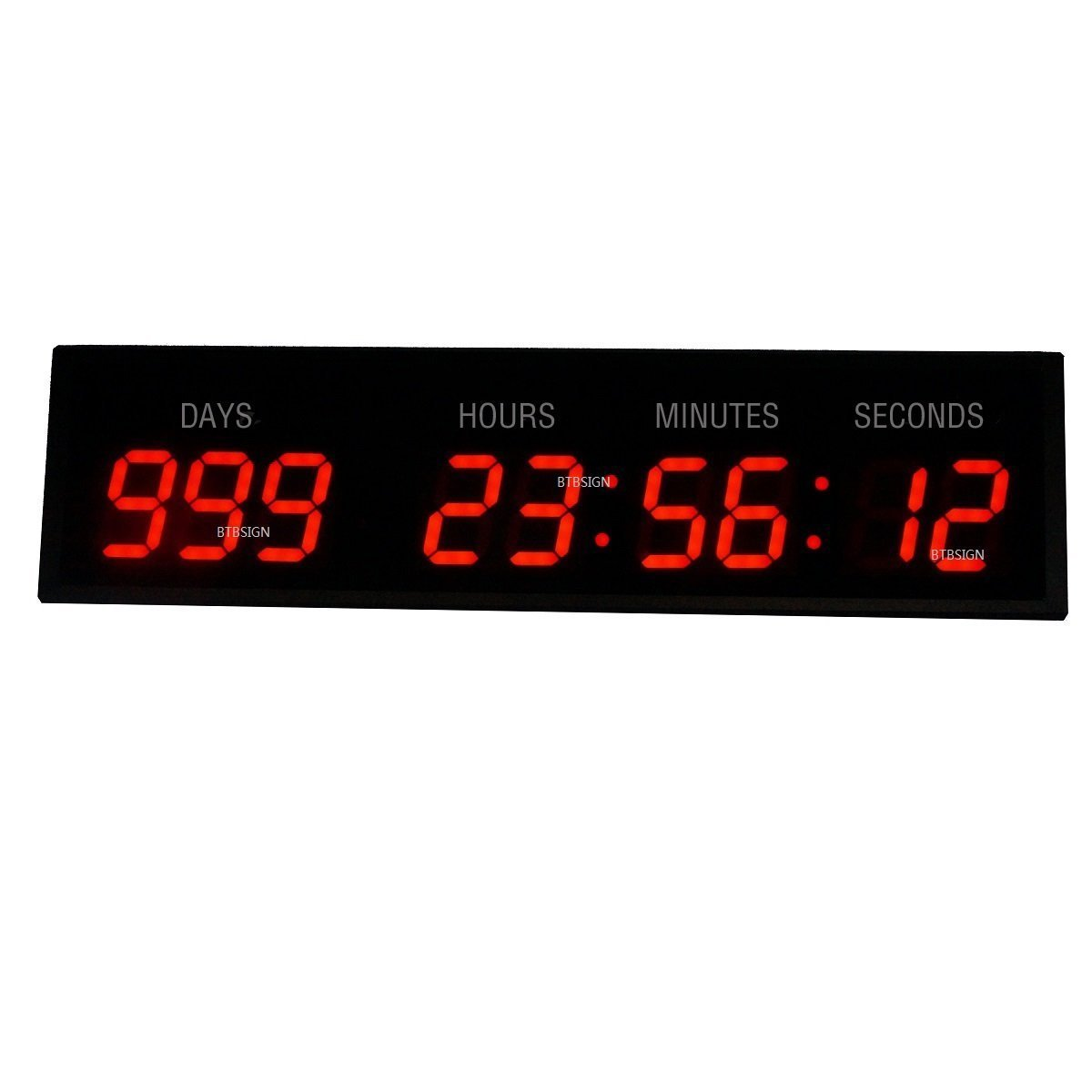 Amazon 3 9digits large led wall clock countdown count up amazon 3 9digits large led wall clock countdown count up event timer for special day home kitchen amipublicfo Gallery