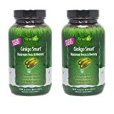Ginkgo Smart by Irwin Naturals, Brain Booster for Memory & Focus, 120 Liquid Softgels
