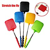 Extendable Plastic Fly Swatter, Sonmer Prevent Pest Mosquito Tool
