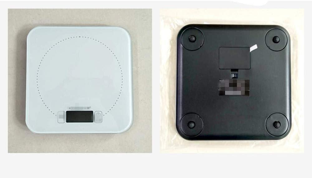 -Alta precisione elettronica da cucina Bilancia elettronica pesare gli alimenti da forno Scala 15Kg Grande Gamma,Nero White