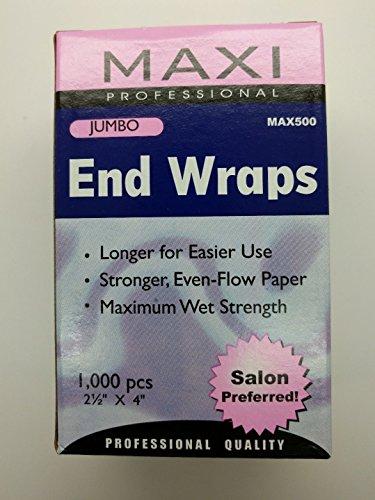 Jumbo End Wraps (3 Box of Maxi Jumbo End Wraps Max500 ( Salon Preferred))