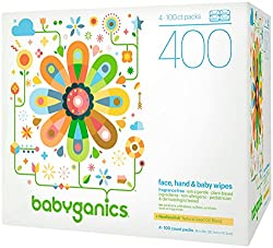 Babyganics Baby Wipes Resealable Top 400ct