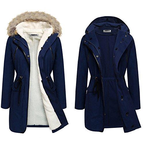 Zeagoo Women's Winter Spring Detachable Liner Coat Jacket Parka Outwear 51oeBjvrpvL