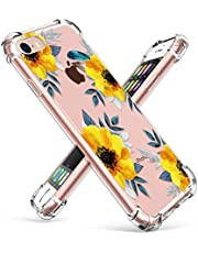 GVIEWIN Clear Flower iPhone 8 Case/iPhone 7 Case, Soft TPU Silicone Ultra-Thin Slim Fit Transparent Flexible Cover for iPhone 4.7 Inch…