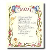 Mom Mother Poem Motivational Flower Wall Picture 16x20 Art Print