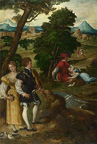 [Oil Painting 'Bernardino Da Asola - The Garden Of Love,about 1535-50' 30 x 44 inch / 76 x 113 cm , on High Definition HD canvas prints is for Gifts And Bath Room, Bed Room And Garage decor,] (Costumes Halloween Yahoo)