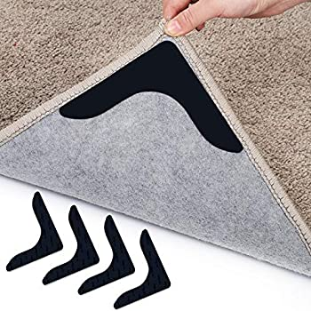 Rug Grippers 12 Pcs Double Sided Non Slip Anti Curling Carpet