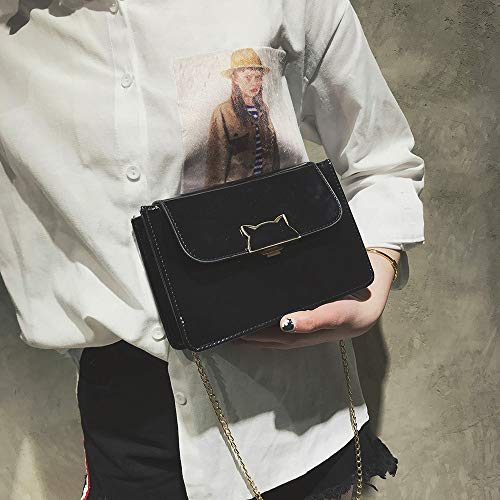 Fashion Crossbody Messenger Small Casual Bag Handbag Clutches Robemon Ladies Black Vintage B Satchel Chain Shoulder Women xn4wqx
