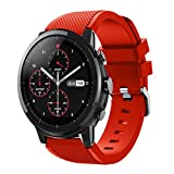Sinma Multicolor Watch Band Strap Soft Silicone Accessories Replacement for Amazfit Stratos Smart Watch 2S (Watermelon Red)
