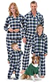 PajamaGram Tartan Plaid Matching Family Pajamas, Green, Women XLG (16)