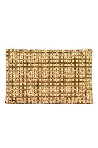MyBatua Sophia oro sera della borsa ricamata a mano con oro sfere ACP-508