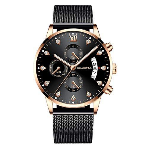 YEZIJIN Stainless Steel Luxury Men Fashion Military Analog Sport Quartz Wrist Watch Under 10