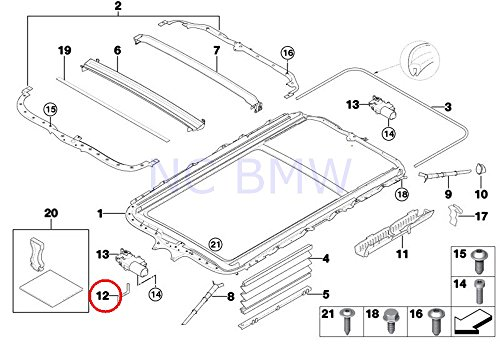 BMW Genuine Emergency Tool Electr.Sliding Roof