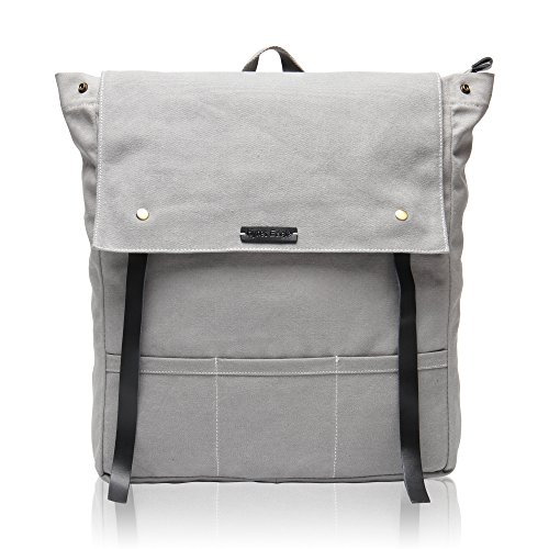 Hynes Eagle Urban Traveler Canvas Backpack Fits 15.6 inch Laptop Light Gray by Hynes Eagle
