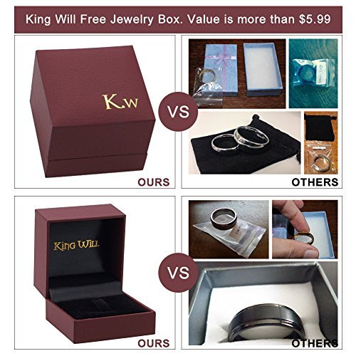 King Will BASIC 7MM Titanium Ring Brushed/Matte Comfort Fit Wedding Band For Men Women (9) Photo #5