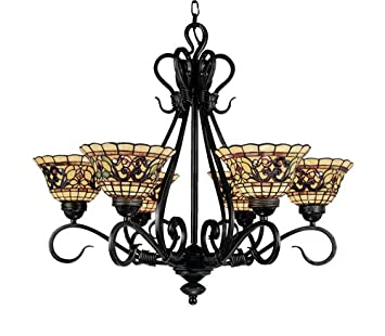 Elk 366 va tiffany buckingham 6 light chandelier 26 inch vintage elk 366 va tiffany buckingham 6 light chandelier 26 inch vintage aloadofball