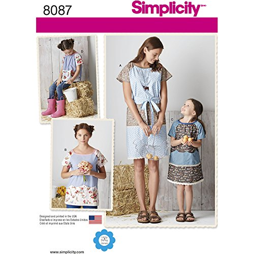 - Simplicity Patterns Simplicity Creative Patterns Child's and Misses' Pullover Dress and Top Size: A (3-8 XS-XL), 8087
