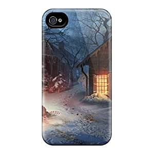 Ultra Slim Fit Hard Saraumes Case Cover Specially Made For Iphone 4/4s- Fierce Tales Dogs Heart08