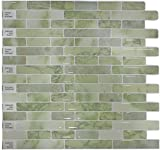 "Peel and Stick Self-Adhesive DIY Backsplash Stick-on Vinyl Wall Tiles for Kitchen and Bathroom Décor Projects, Item# 91010842, 10"" X 10"" Each, 6 Sheets Pack"