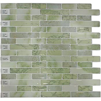 Crystiles Peel And Stick Self Adhesive DIY Backsplash Stick On Vinyl Wall  Tiles For Part 96