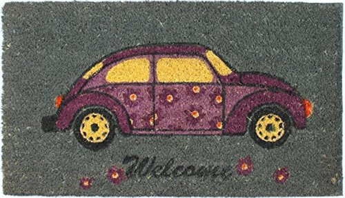 1art1 Cars Door Mat Floor Mat - VW Beetle, Welcome (28 x 16 inches) from 1art1