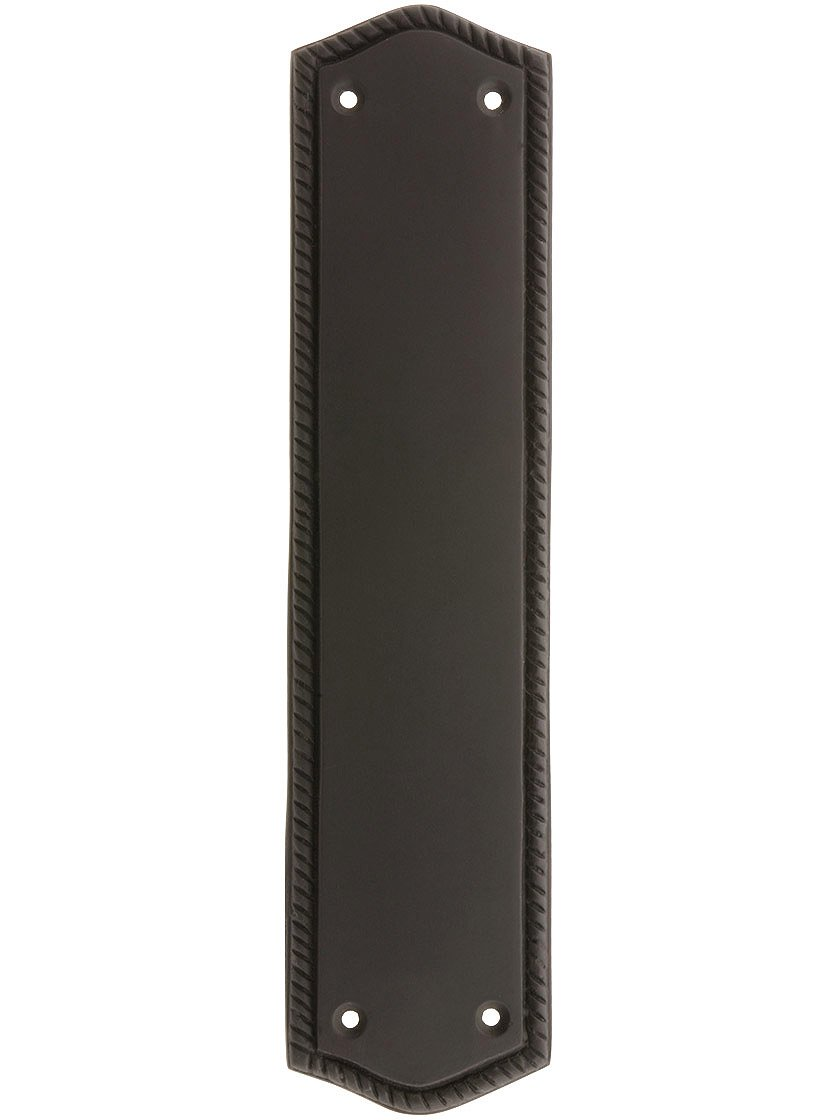 10 1/2'' Rope Push Plate In Oil Rubbed Bronze