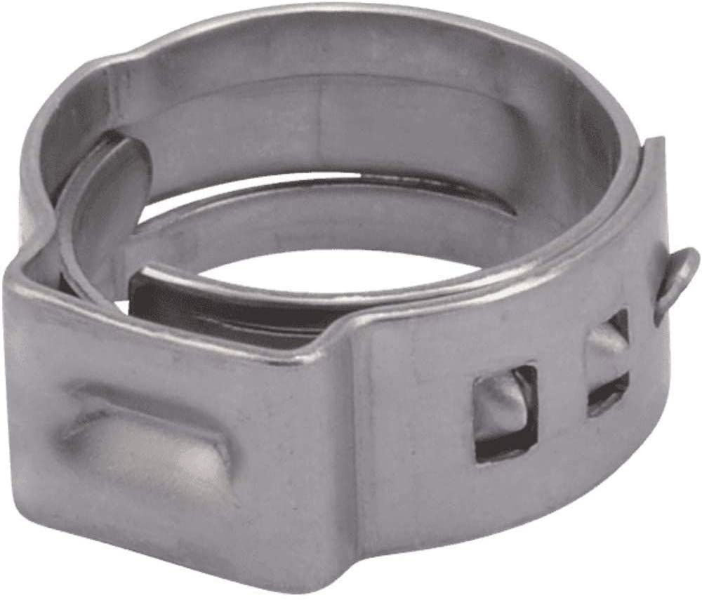 SharkBite UC953A PEX Clamp Ring 1/2 Inch, Stainless Steel, Pack of 10 - Faucet O Rings -