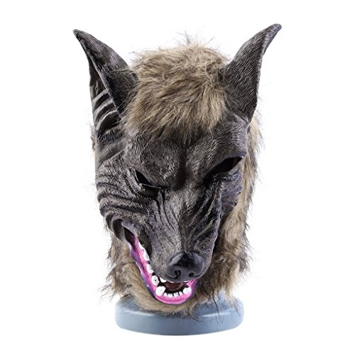 TopFire Latex Animal Wolf Shape Head Mask Fancy Scary Halloween Dress-Up Costume Party Novelty Mask for Halloween (Awesome Halloween Masks For Sale)
