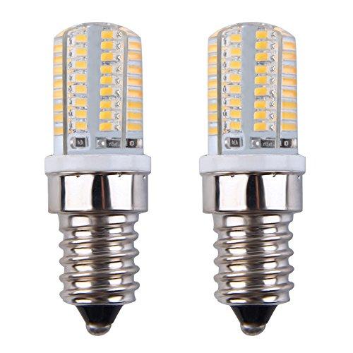E14 LED Light Bulbs, 3W, 64LED, 360 Degree Beam Angle, SMD 3014, 240-260LM LED Light Bulbs, Non-Dimmable 110V Corn Light Bulb for Household Garden Yard Warm White 3000K Pack of 2 Units (Light Break 3w Outdoor)