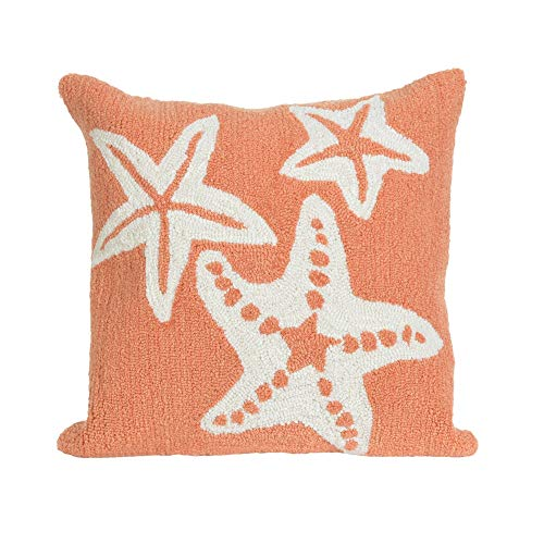 Trans Ocean Imports Co. Sea Diamonds Pillow (18 x 18) Coral