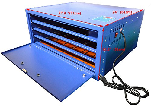 Techtongda 110V Screen Drying Cabinet 4 layers Screen Printing Equipment Temperature Control Plate Heating by Screen Printing Equipment
