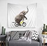 """Hokway Elephant Tapestry Easter Wall Hanging Vibrant Art Bohemian Home Decors Decorate Living Room Bedroom Wardrobe Room (54""""x70"""")"""