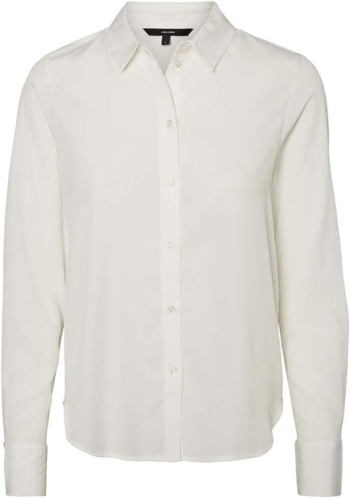 Vero Moda Camisa VMNICKY Blanca para Mujer XL Blanco: Amazon.es: Ropa y accesorios