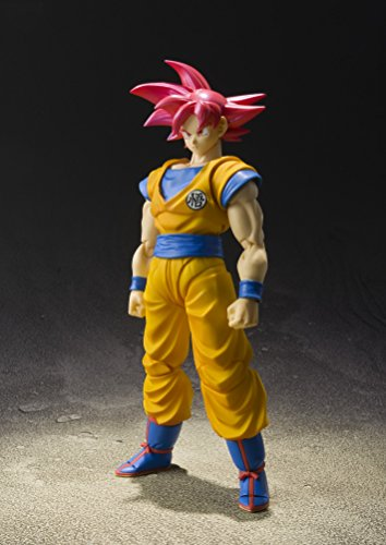 "51oeG8uN2RL - Bandai Tamashii Nations S.H. Figuarts Super Saiyan God Son Goku ""Dragon Ball Super""  Action Figure"