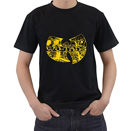 [Wu Tang Clan Logo Rap Hip Hop Music T-Shirt Short Sleeve By Saink Black Size S] (Circle Jerk Costume)